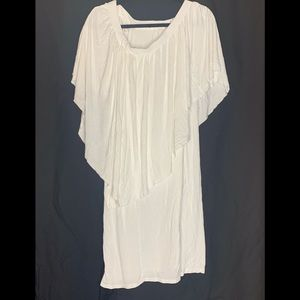 Dresses & Skirts - All White shoulder dress